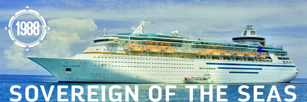 Sovereign of the Seas - cel mai mare megaiaht in 1988